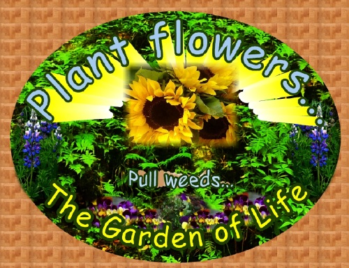 Plant Flowers Pull Weeds, The Garden of Life