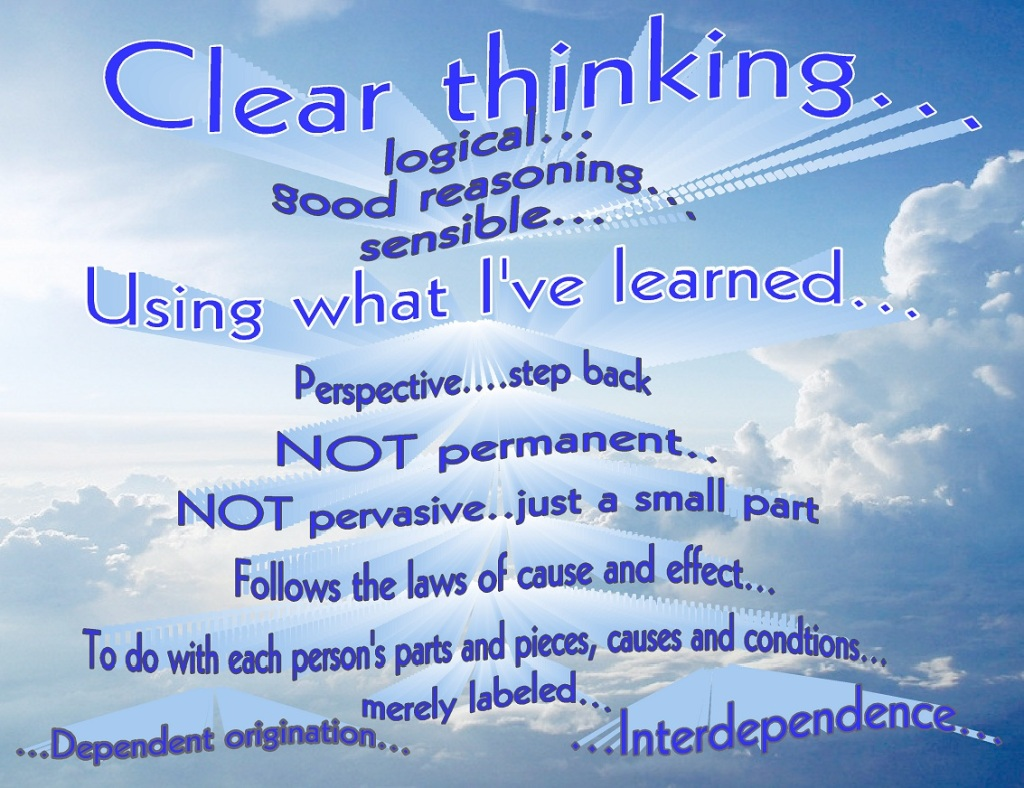 """Clear"" thinking"