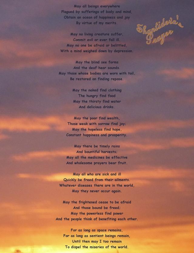 Shantideva's Prayer