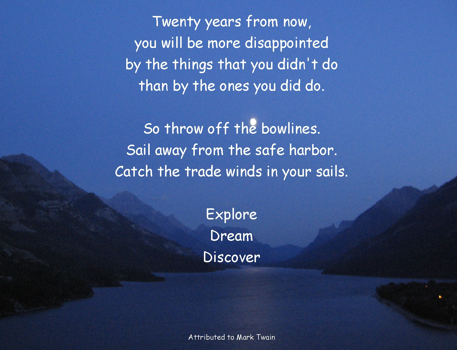"""Sailing Quotes Hemingway Quotesgram: """"Sail Away From The Safe Harbor….catch The Trade Winds In"""