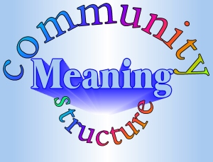 "Creating a ""meaningful life"".... meaning, structure and community"