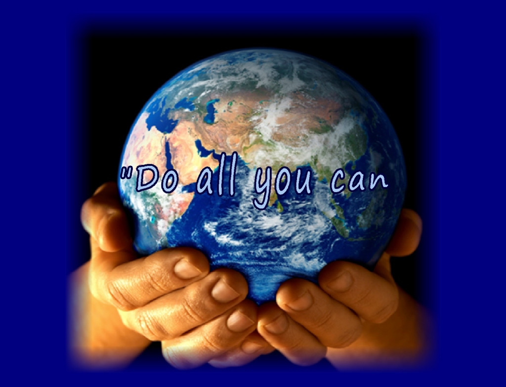 """Do all you can, with what you have....""  an inspirational quote by Nkosi Johnson"