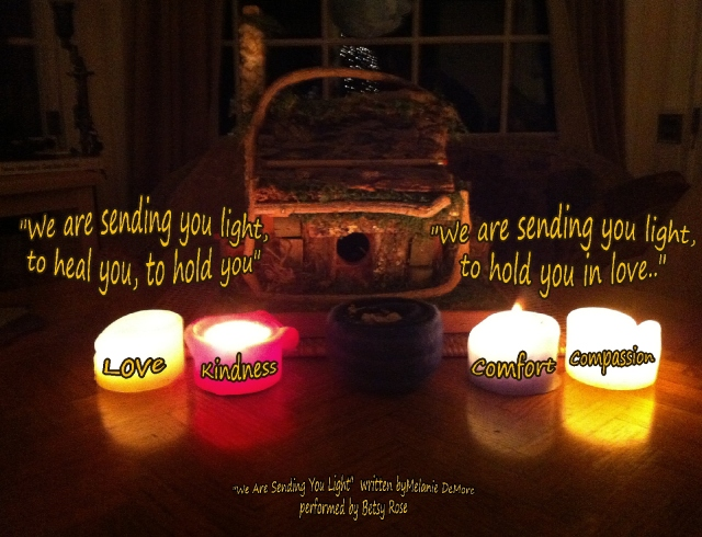 sending you light to heal you to hold you candles
