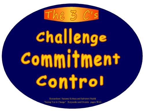 3 c's challenge commitment control oval reminder
