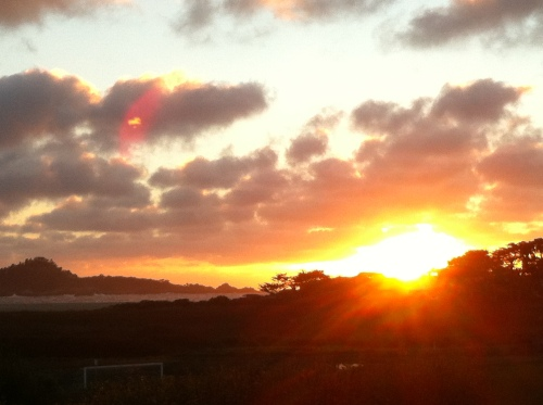 sunset over Pacific Carmel