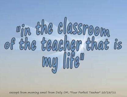 learning in the classroom of the teacher that is my life
