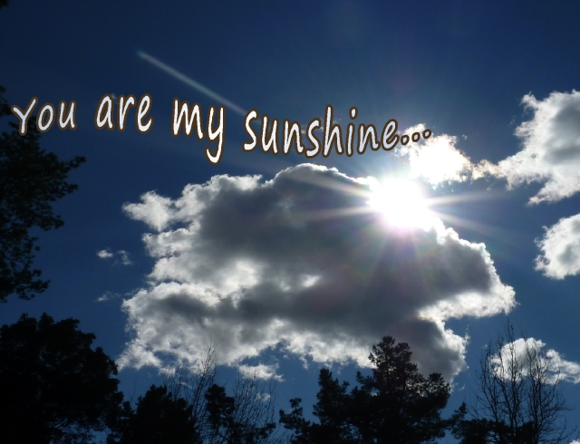 """You are my sunshine""....so much potential sunshine in our lives each day"