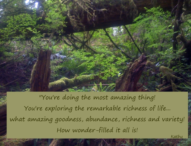 You're doing the most amazing thing exploring richness