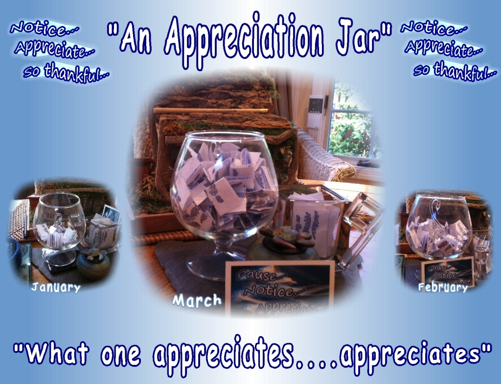 appreciation jar, noticing the positives in daily life