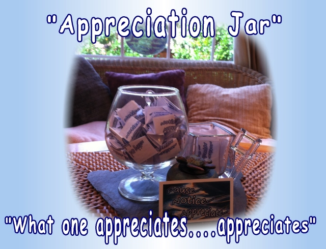appreciation jar March, filling with positives