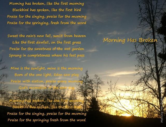 morning has broken march 30