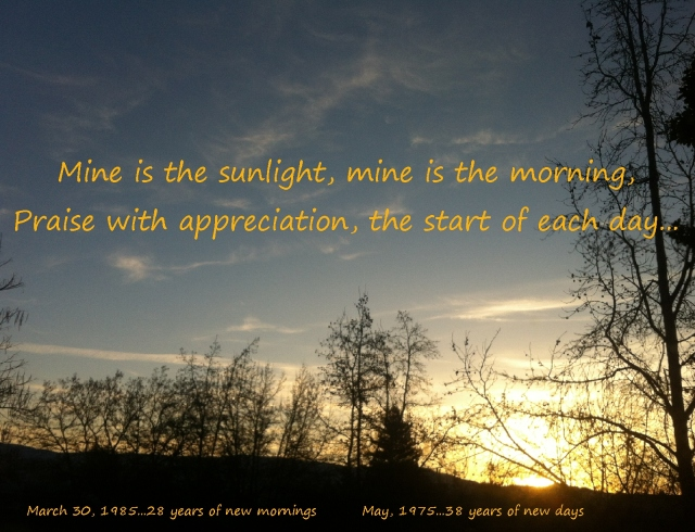 morning has broken, mine is the sunlight