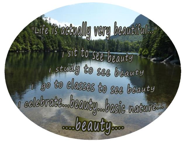 Stillness quiet mind life is very beautiful