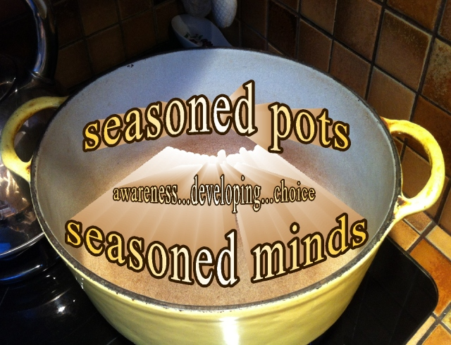 seasoned pot seasoned mind awareness and choice