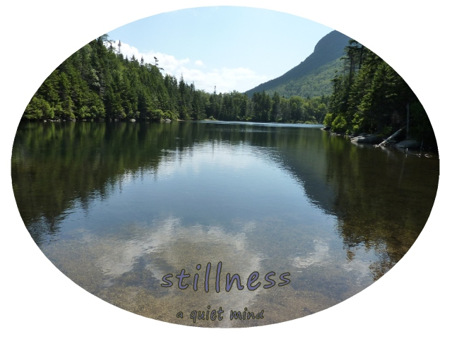 Stillness, a quiet mind