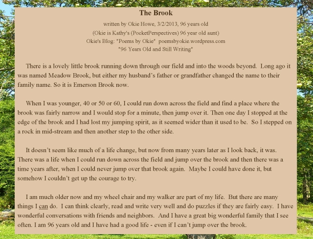 The Brook, Okie, typed