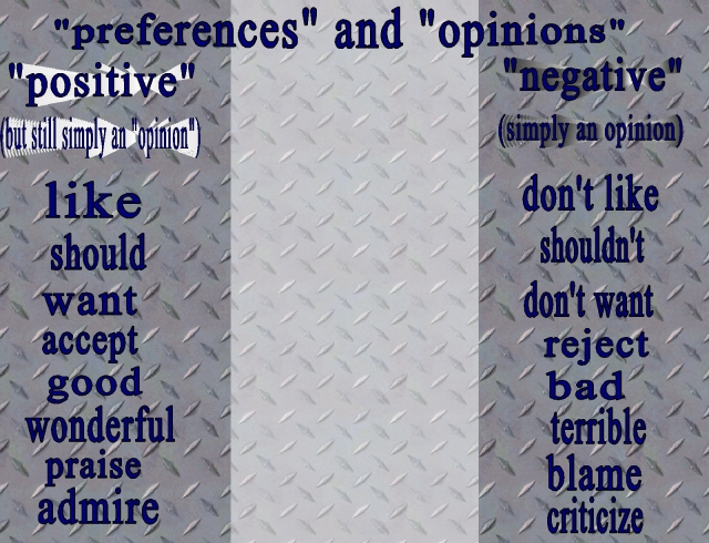extremes of preferences and opinions