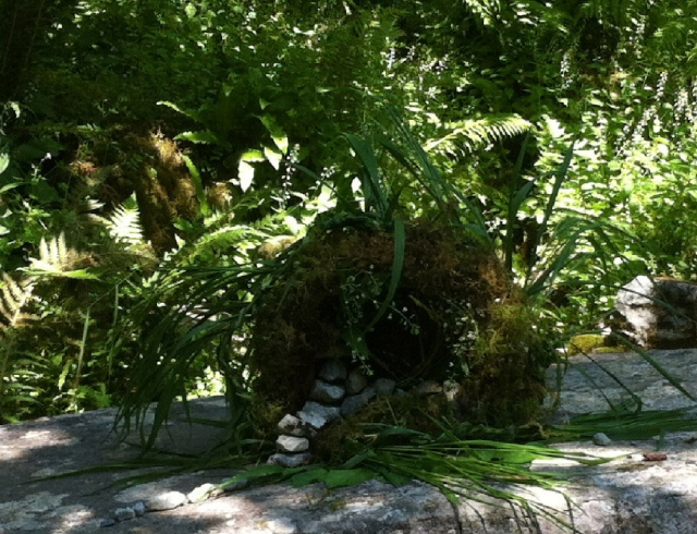 the healing well, lovely little moss cave
