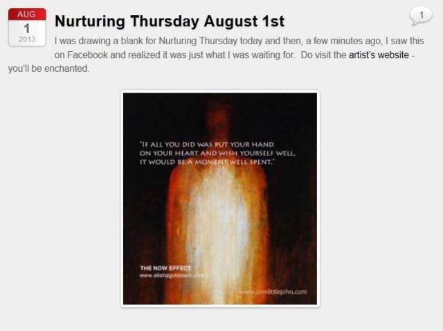 Joss Nuturing Thursday