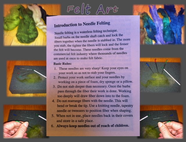 needle felting...art felt instructions