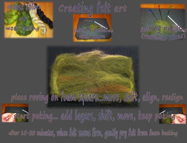 needle felting...steps to do