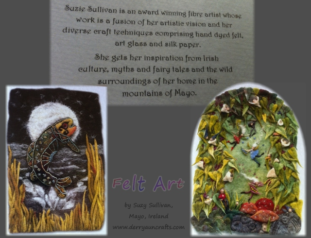 Suzy Sullivan felt and fiber art, Ireland