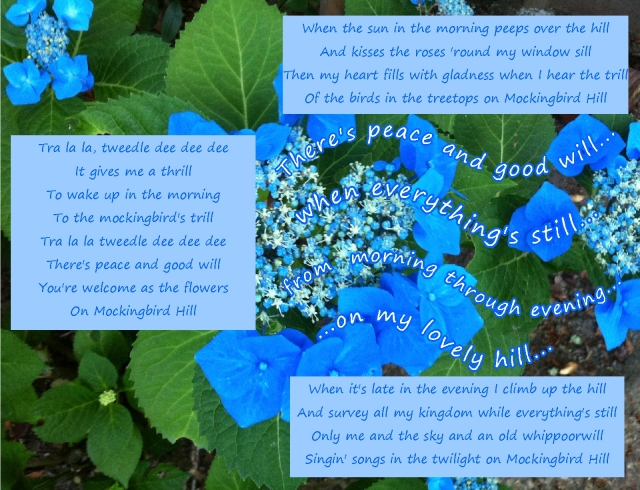 Mockingbird Hill  lyrics peace and good will