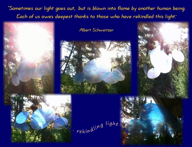 Albert Schweitzer quote Sometimes our light goes out