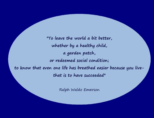 ralph waldo emerson to leave the world a bit better