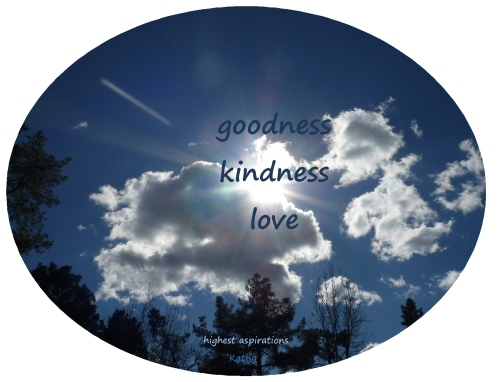inspired by goodness kindness and love