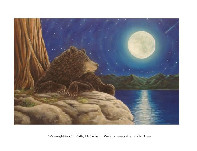 Cathy McClelland Moonlight Bear