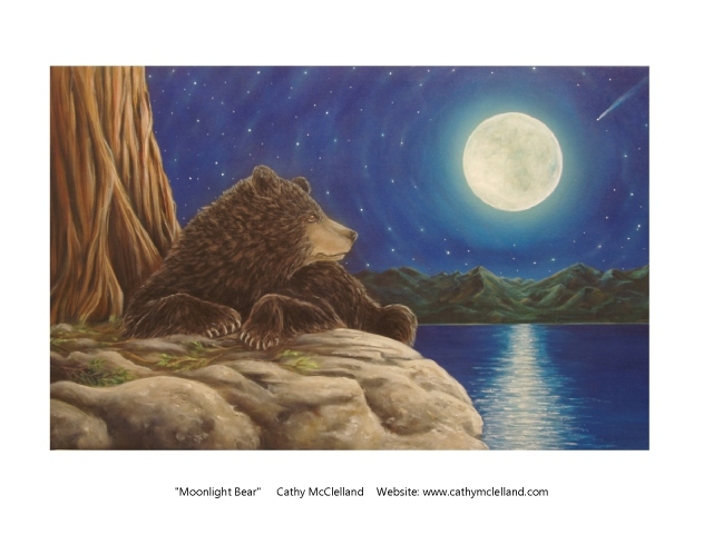 Cathy McClelland Moonlight Bear