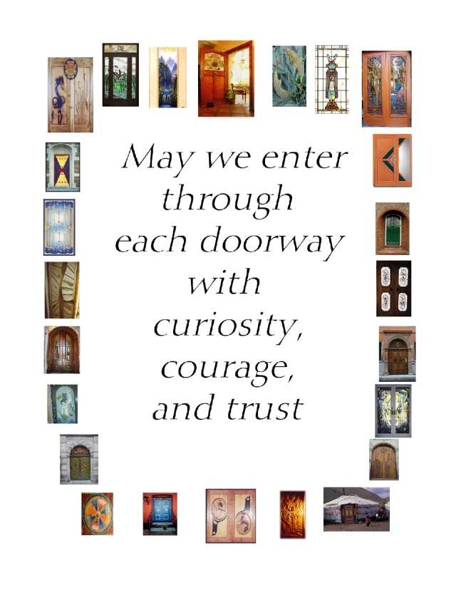 entering doorways with curiosity courage and trust