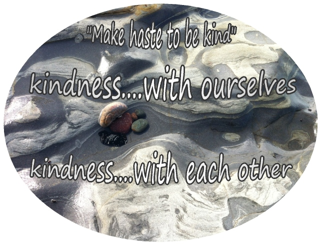 make haste to be kind with ourselves and each other