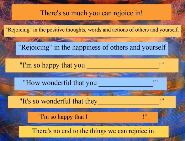 rejoice in happiness of others