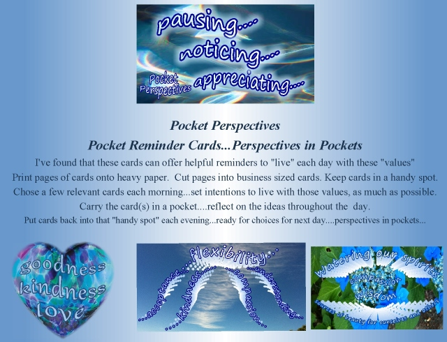 Pocket Perspectives pocket cards explanation april 2014