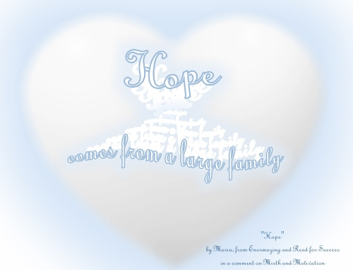 hope comes from a large family Maria  Enermazing blog