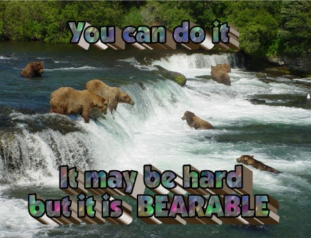 Bearable it may be hard but it is Bearable