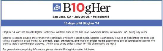 BlogHer headline