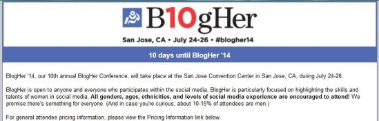 BlogHer headline