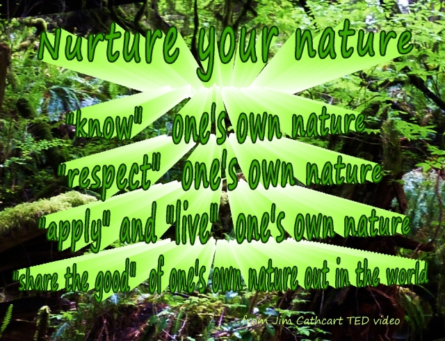 nurture your nature know respect live share