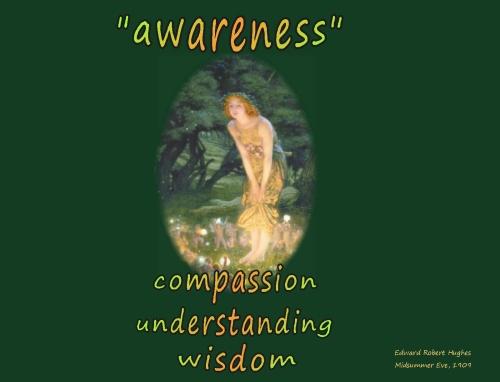 awareness watching compassion understanding wisdom