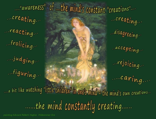awareness  watching creating like children in the mind