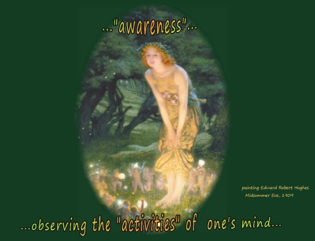 awareness watching and observing the activities of ones mind
