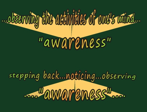 awareness watching stepping back noticing obseving