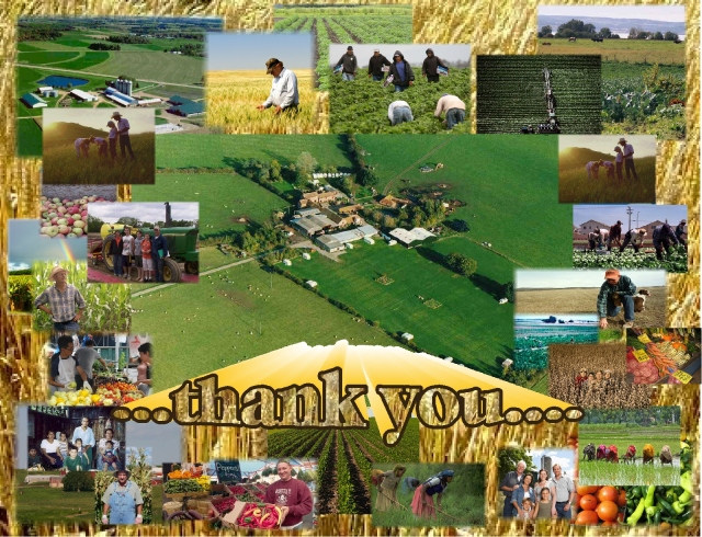 We thank the farmers thank you