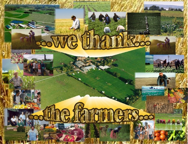 We thank the farmers