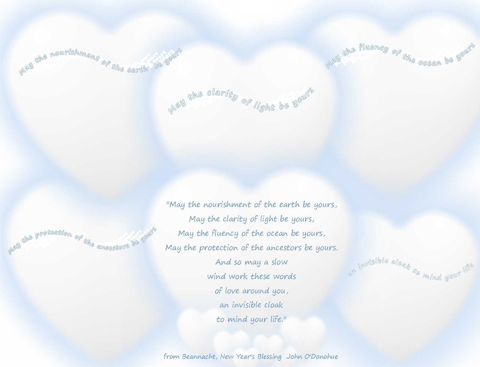 A New Year\'s Wish for all… nourishment, clarity, fluency, protection ...