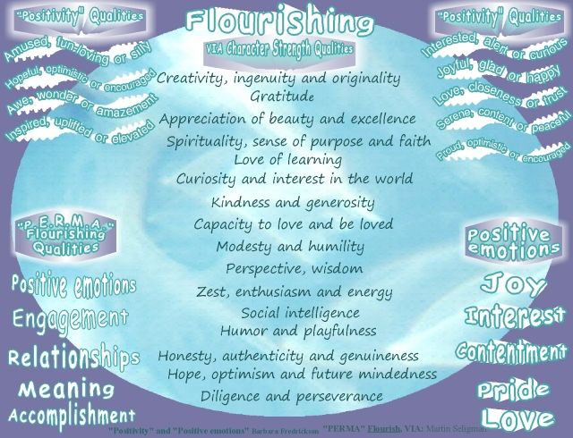 flourish perma via and positive emotions and qualities