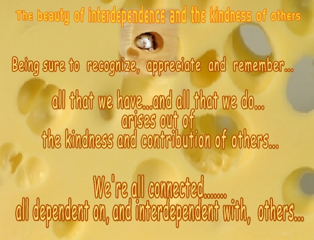 mouse found the cheese kindness interdependence